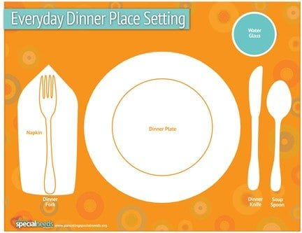 PSN _Everyday Dinner Setting copy  sc 1 st  Parenting Special Needs Magazine & Thanksgiving: A Perfect Time to Learn How to Set the Table ...